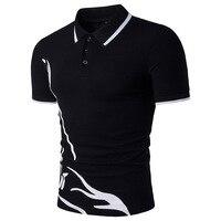 2017 Summer New Men Tee Shirt Fashion Print Slim Fit T Shirt Men Short Sleeve Turn