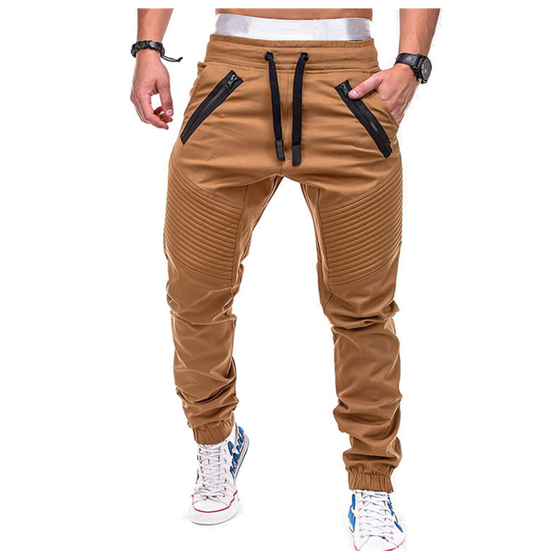 ROUYHUAL2019 New Men's Casual Pants Jogging Fitness Overalls