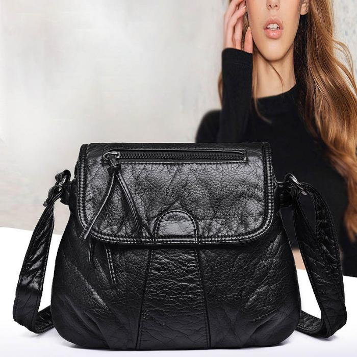 b8925cc7545 Vintage Women PU Leather Shoulder Bag Flap Handbag Ladies Messenger  Crossbody Bags AB@W women bag