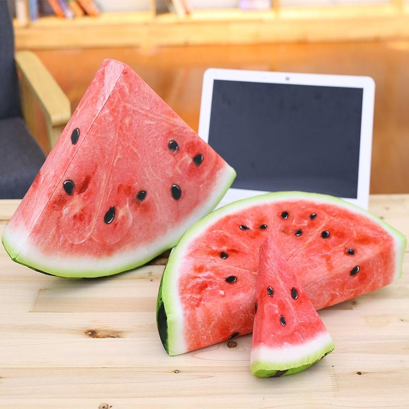 1pc About 15-38cm 12 Patterns Fruit Pillow Plush Toy Simulation Watermelon Orange Kiwi Pillow Home Decoration Cushion Nap Pillow