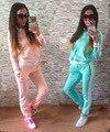 2016 Novas Mulheres Terno 2 Peça Conjunto Ocasional Sportswear Das Mulheres Treino chandal mujer de Moda completo