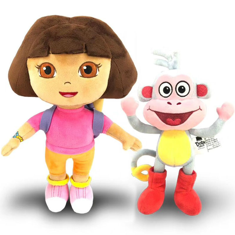 100% Genuine 15-30cm Dora The Explorer Boots Swiper Cartoon Plush Soft Stuffed Doll Children Toy Kids Birthday Christmas Gift