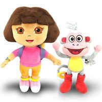 100% genuíno 15-30cm dora the explorer botas swiper dos desenhos animados de pelúcia macio recheado boneca crianças brinquedo crianças aniversário presente natal