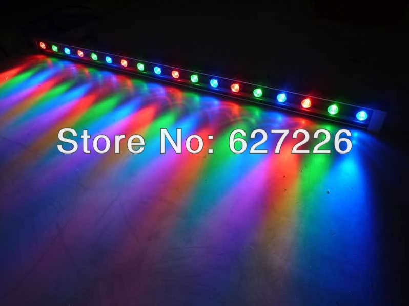 DMX512 18W RGB Color Changeable AC85V-265V LED Wall Washer,IP65 Outdoor Lighting,Approved RoHS CE FCC Warranty 3 Years, 18w dmx led wall washer dmx 512 rgb 85 265v dmx512 control color change lamp epistar chip 50000h ce rohs free shipping