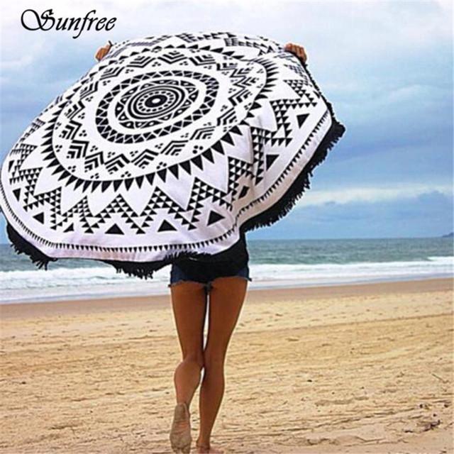 Sunfree 2017 NEW HOT SALERound Hippie Tapeçaria Praia Jogar Roundie jan mandala toalha yoga mat bohemian nova marca de alta qualidade 11