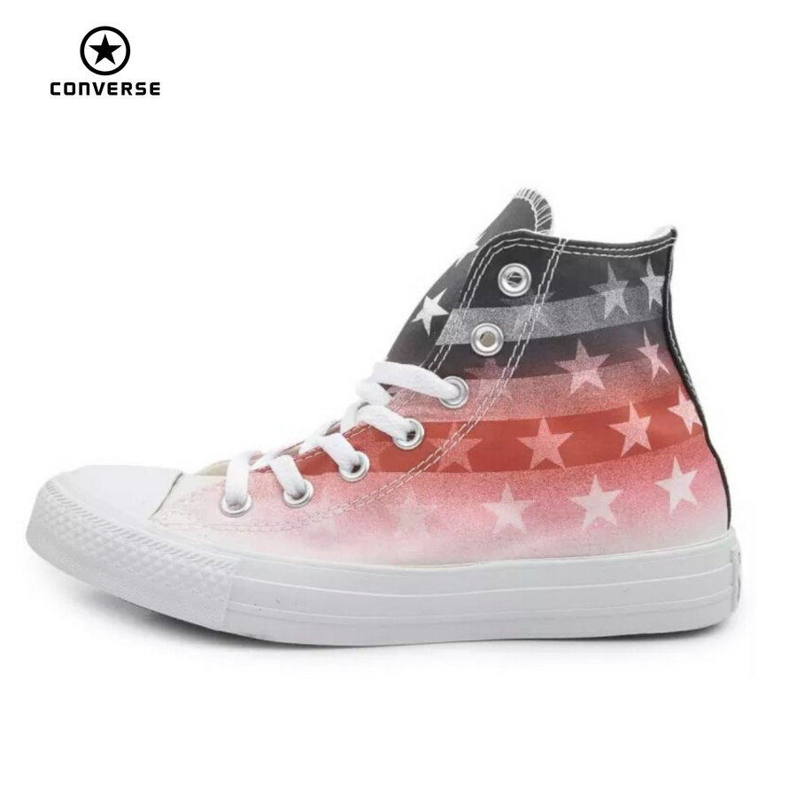 151f8fcf78f Original Converse all star shoes national flag Color matching high men women s  sneakers canvas classic Skateboarding