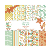 DIY Scrapbooking Kit 6inch Pad Paper Pack Charm It S Boy Girl Baby Paper 24Sheet For