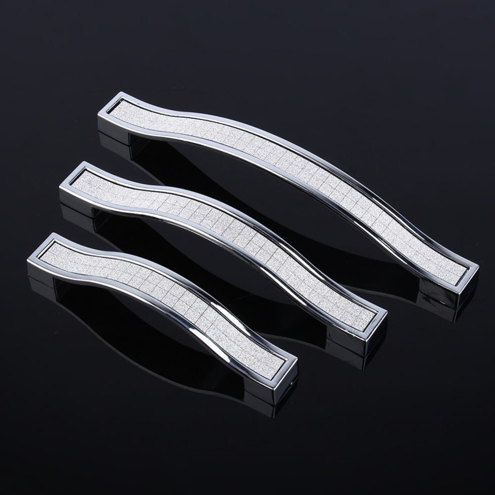 Hot 96/128/160mm Modern Crystal Drawer Pull Handle Cabinet Cupboard Wardrobe Door Furniture Hardware Handle Good Quality furniture drawer handles wardrobe door handle and knobs cabinet kitchen hardware pull gold silver long hole spacing c c 96 224mm