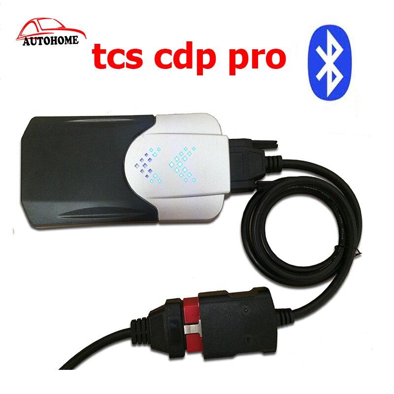 Цена за С Функцией Bluetooth В. Д. TCS CDP Pro Plus Для Мультибрендовый Автомобили OBDII Разъем Автомобиля Легковых и грузовых автомобилей Диагностический ИНСТРУМЕНТ