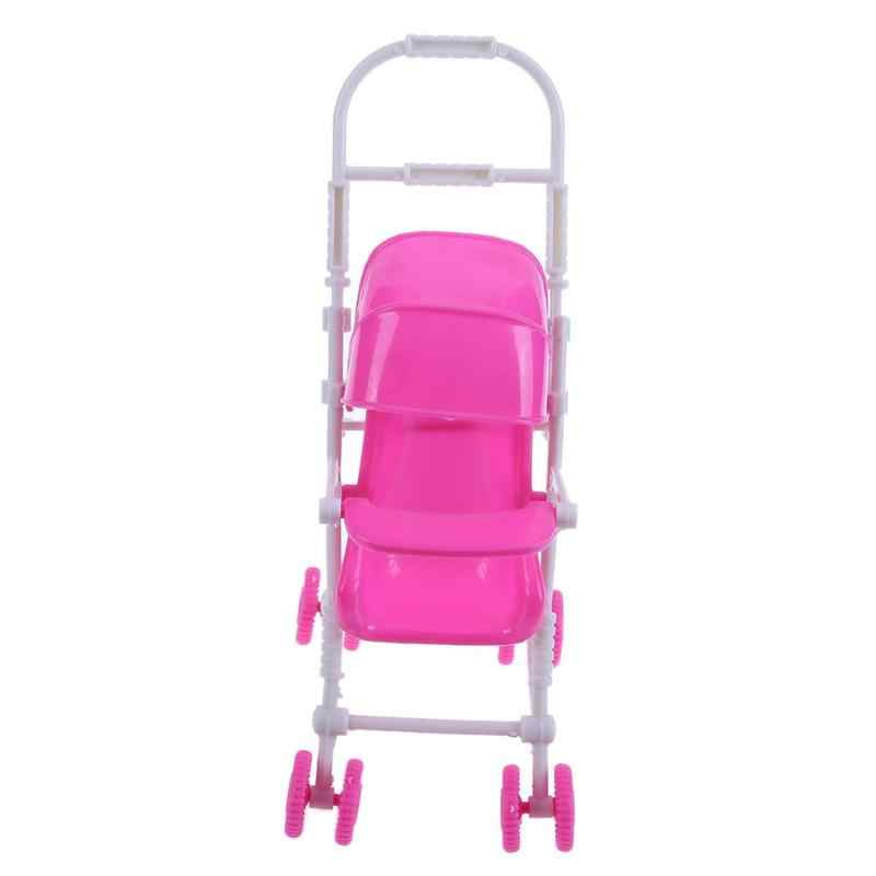 9 pçs casa de bonecas em miniatura plástico boneca carro conjunto mini carrinho de bebê carrinho carrinho de bebê berçário jogar casa boneca acessórios crianças brinquedo conjunto