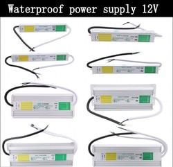 DC 12V 24V IP67 wodoodporny zasilacz elektroniczny adapter uniwersalny do lcd na zewnątrz AC 100-240 V-10 W 50W 60W 80W 100W 200W 250W