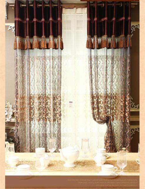 Home Decoration Turkish Relief Embroidery Curtain Screens European Modern Upscale Bedroom Living Room Curtains For