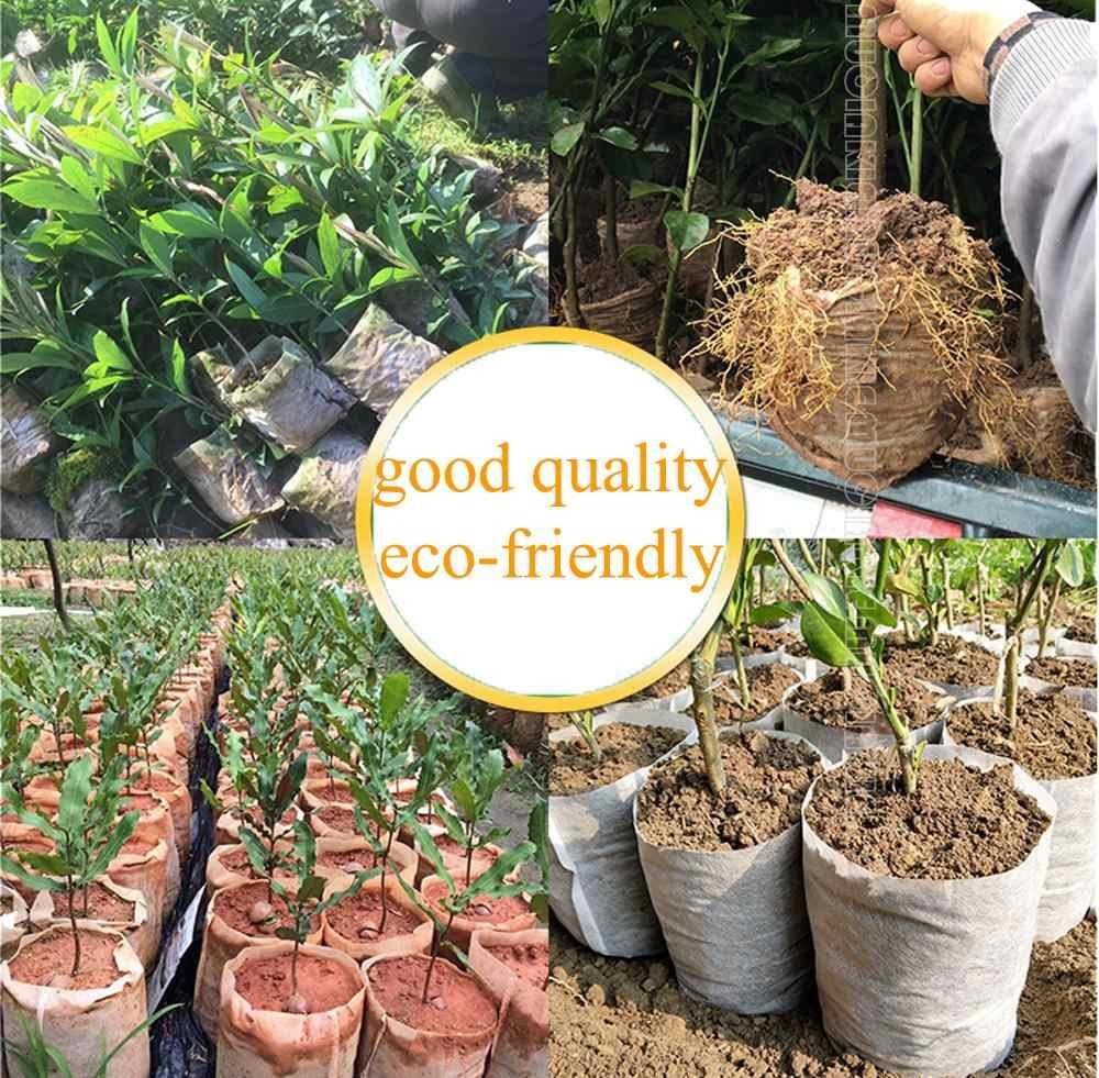 Tamanhos diferentes biodegradáveis não tecidos berçário sacos planta crescer sacos de mudas de tecido potes eco-friendly aeração plantio sacos