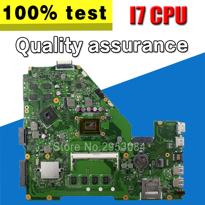 Send Board With GT720M 4GB RAM I7 CPU Motherboard HM76 For ASUS F552CL X550VL X552C X550C Laptop Motherboard X550CC Mainboard