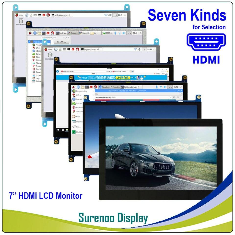 """Écran de moniteur d'affichage de Module d'affichage à cristaux liquides de 7 """"7.0 pouces 1024*600 TFT HDMI avec la sortie Audio capacitif d'écran tactile d'usb pour la framboise Pi"""