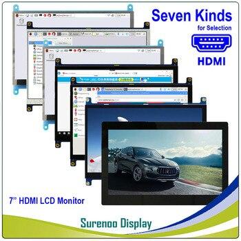 7 7,0 дюймов 1024*600 TFT HDMI ЖК-модуль экран монитора с USB емкостной сенсорной панелью аудио выход для Raspberry Pi >> Surenoo Store