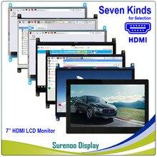 """Tela de monitor lcd de 7 """"7.0 polegadas, 1024*600 tft hdmi, painel de toque capacitivo usb saída para raspberry pi"""