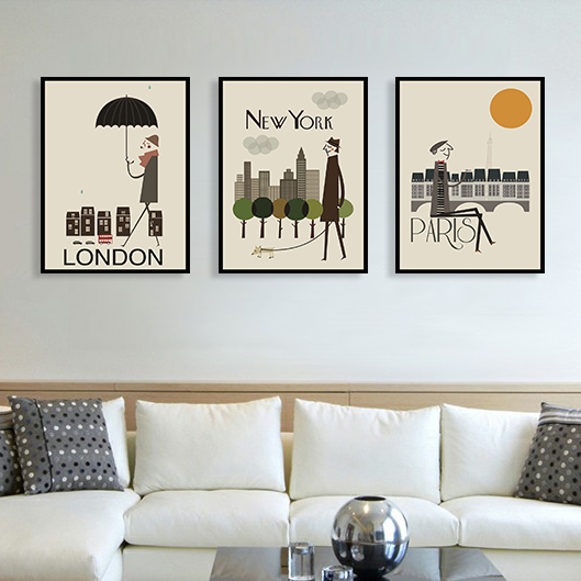 London New York Paris Leinwand Malerei Wand L Drucke Dekorative Dekoration Wohnzimmer Schlafzimmer MG3475