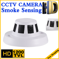 11 11biggest Sale HD Cmos 1200tvl CCTV Mini Smoke Camera Smoke Sensing Appearance IR CUT Indoorsecurity