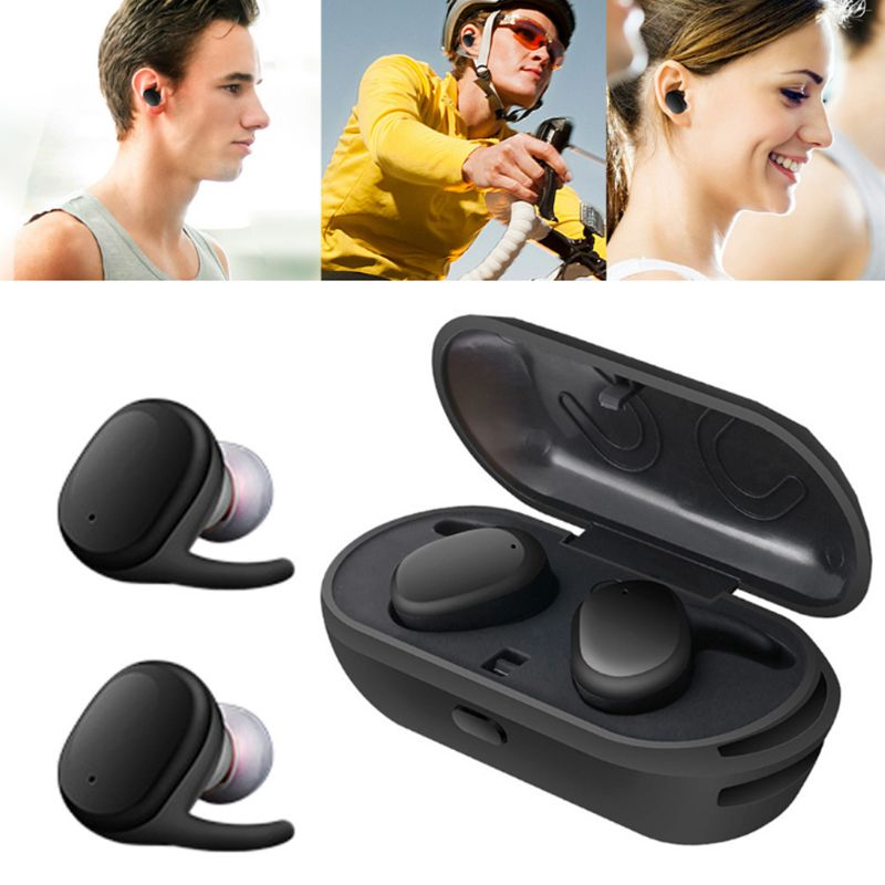 1 Paar Draadloze Bluetooth Oortelefoon In-ear Stereo Magnetische Hoofdtelefoon Sport Headset Touch Control Draagbare Opladen Doos Oordopjes