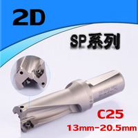 Drill SP WC C25 2D 13mm 14mm 15mm 16mm 17mm 18mm 19mm 20mm Indexab Insert Drill U Shallow Hole Metal Drilling Tool for SP Insert