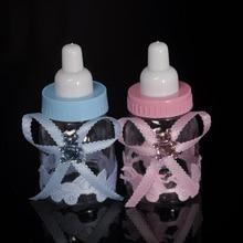 6Pcs Blue Boy / Pink Girl Baby Shower Gift Box Bottle