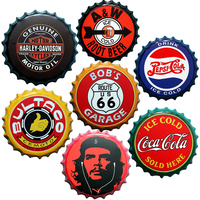 Amerikaanse land oude bier cap vermeld iron schilderen westerse populaire gepersonaliseerde decoratie bar cafe muurstickers home decor