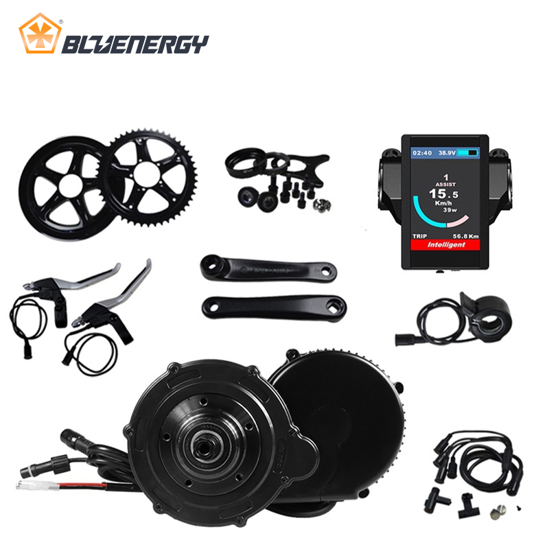 Bafang 48V 350W BBS01 BBS01B Electric Bick Mid Drive Motor Conversion Kits For 48v Brushless Motor With C961/C965/850C Display brushless side hung motor 36v 350w bafang 8fun bbs bbs01 bbs01b mid drive motor kit electric bicycle conversion kit w display