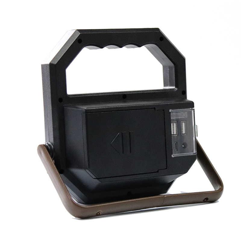 Cob led lanterna lâmpada de trabalho tocha portátil usb carregamento com gancho banco energia móvel para lâmpada ao ar livre