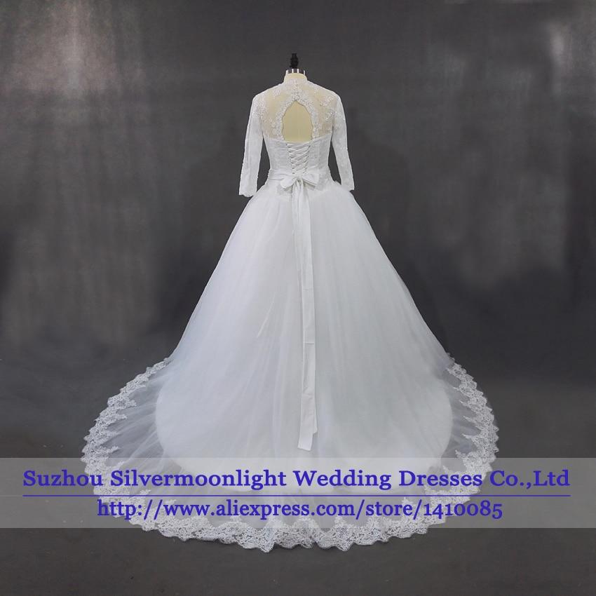 vestido de noiva 100% Real Sample Wedding Gowns For Bride Vintage ...