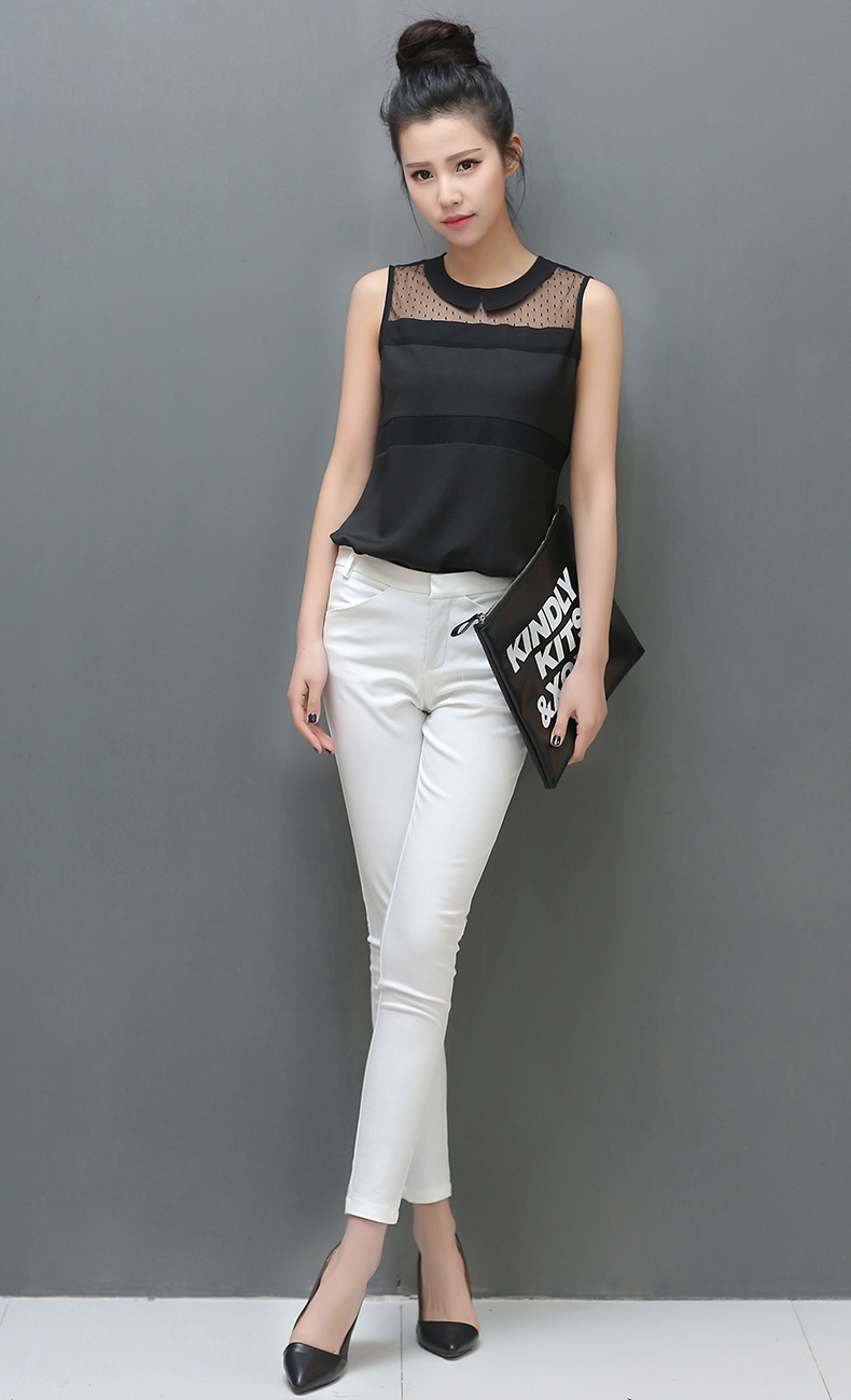 060ccd00e3d946 Summer new 2014 Korean doll lace chiffon women blouse shirt 2 colors for women  work wear-in Blouses & Shirts from Women's Clothing on Aliexpress.com ...