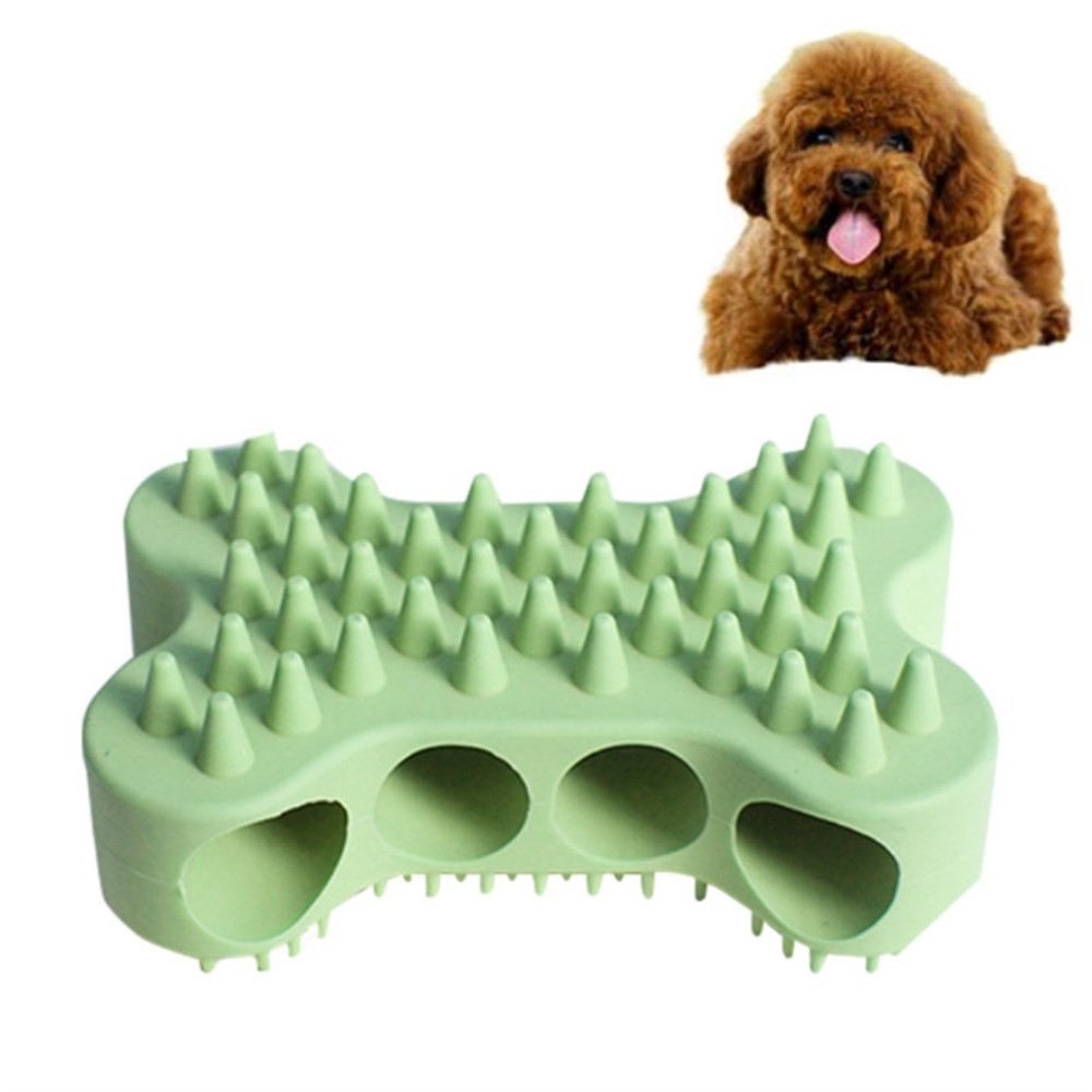 Soft Silicone Brush Dog Grooming Comb Dog Massage Bath Brush Pet Hair Remover Dog Comb Fur Accessories