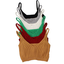 Knitted Tank Top 2016 Hot sale autumn summer 12 colors Acrylic Sexy Women Tops Halter Crop Top Crochet Women Camisetas Y Tops