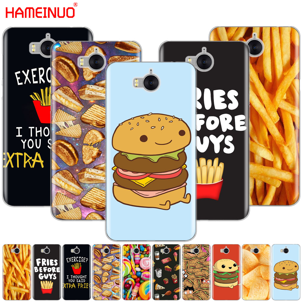 HAMEINUO Cute food fries burger funny <font><b>cell</b></font> <font><b>phone</b></font> Cover Case for <font><b>huawei</b></font> honor 3C 4X 4C 5C 5X 6 7 Y3 <font><b>Y6</b></font> Y5 2 II Y560 2017