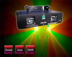 ציוד dj DMX שלב לייזר אדום + ירוק למופע דיסקו