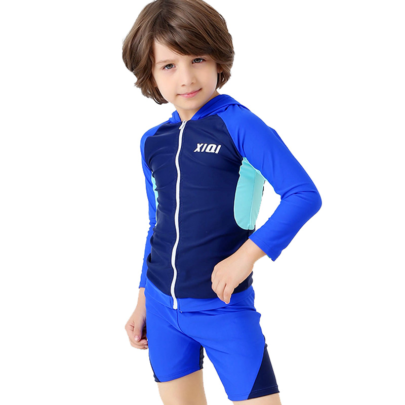 2019 forró gyerekek fürdőruha fiú szörfözés öltöny hosszú ujjú sportruházat versenyképes fürdőruha fiú strand két darab fürdőruha BH