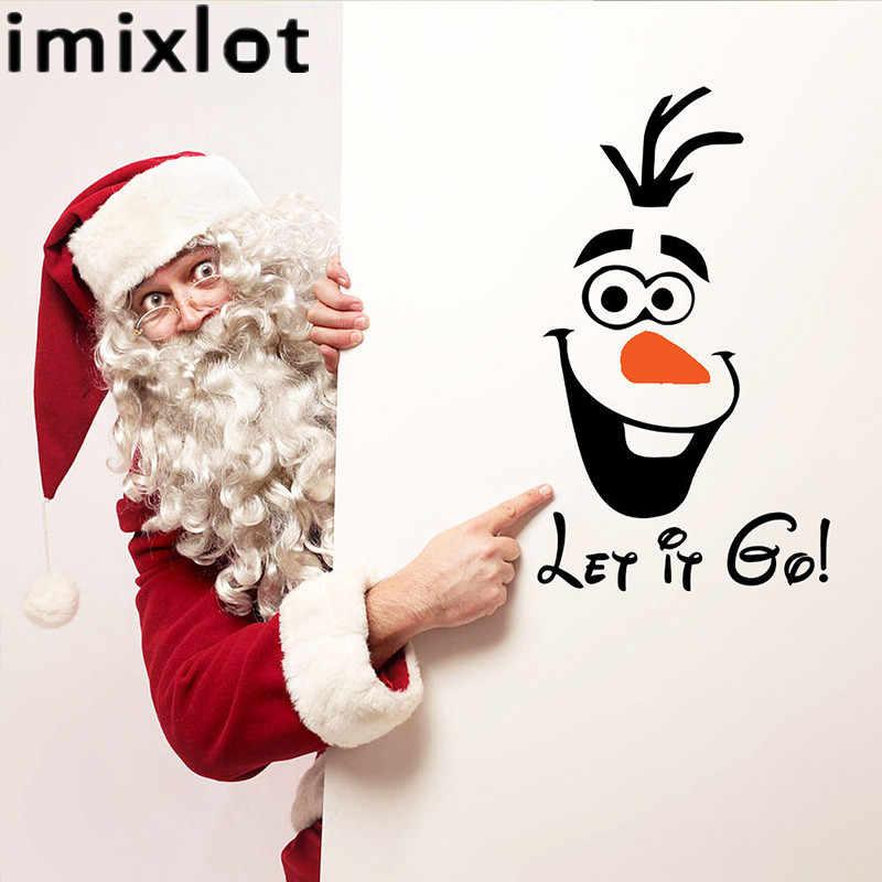 Imixlot 14X23cm PVC Cute Olaf Snowman Bathroom Toilet Wall Stickers Rooms Decorative Vinyl Wallpapers For Home.jpg q50