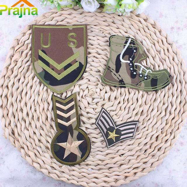 Hot Sale Cheap Flag Military Patch Applique Biker Embroidered Patches For  Clothes Iron On Stickers Badges
