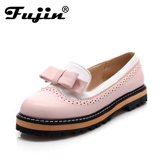 Большой размер 2017 осень осень женская мода квартиры мокасины туфли офис платформа женские девушки платье обувь женщина плоские туфли