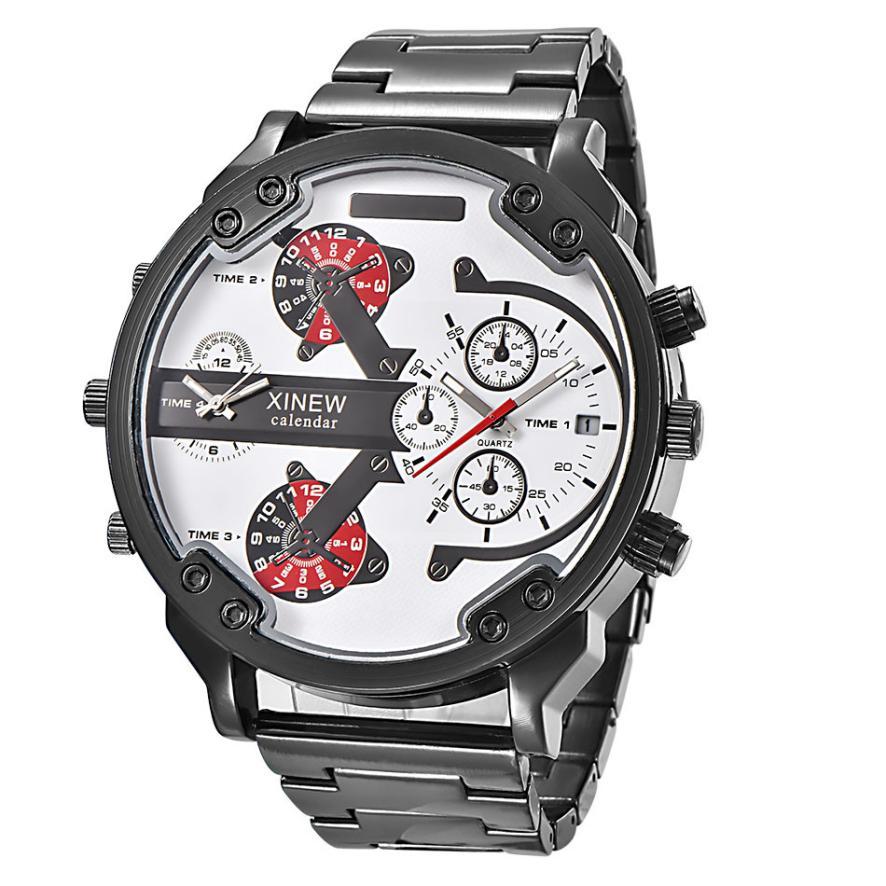 XINEW Men s Fashion Luxury Watch Stainless Steel Sport Analog Quartz Mens Wristwatch A4282