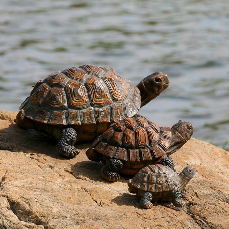 33x24x14cm Simulation Animal Turtle Ornaments Home Garden