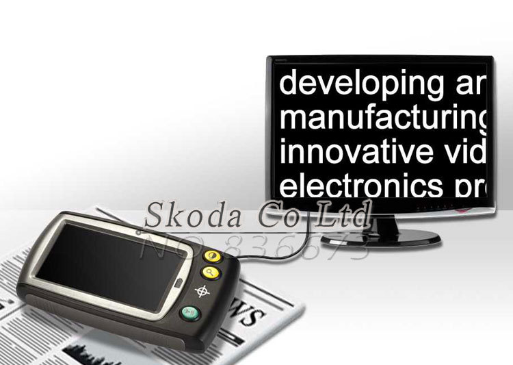Free shipping Handheld Portable Digital low vision Video Microscope Magnifier 4.3