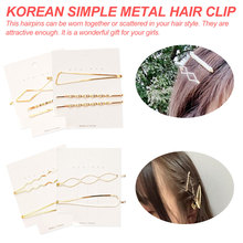 Women Girls Cute Alloy Geometric Gold Color Hair Clips Barrettes Lovely Hairpin Headband Fashion Accessories