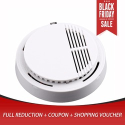 Independent Alarm Fire Smoke Sensor Detector 85dB Photoelectric Monitor Home Security System for Family Guard Office Restaurant