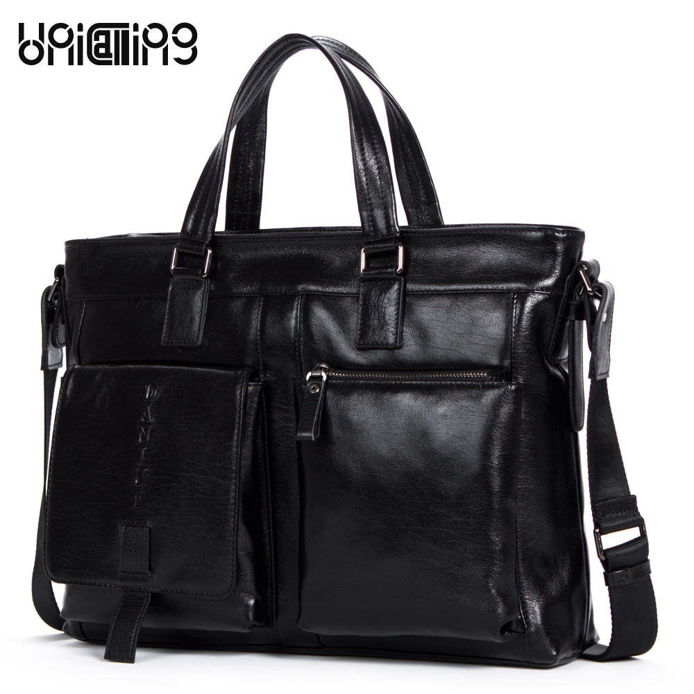 New Arrival hot genuine leather laptop bag 14 real skin cowhide men computer bag fashion large capacity men handbag of leather aetoo the new oil wax cow leather bags real leather bag fashion in europe and america big capacity of the bag
