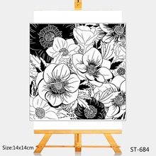 AZSG Beautiful flowers Clear Stamps For DIY Scrapbooking Rubber Stamp/ Seal Paper Craft Stamp Card Making