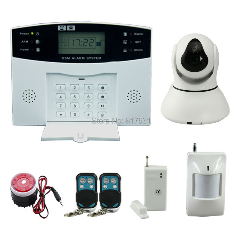 Self Monitoring Wireless Alarm System Gsm With Ptz Wifi Ip