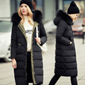 New Fashion 2016 Winter Jacket Women White Duck Down Parka Large Real Raccoon Fur Collar Hooded Coat Top Quality