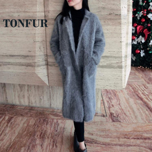 Coat Mink Cashmere Fur
