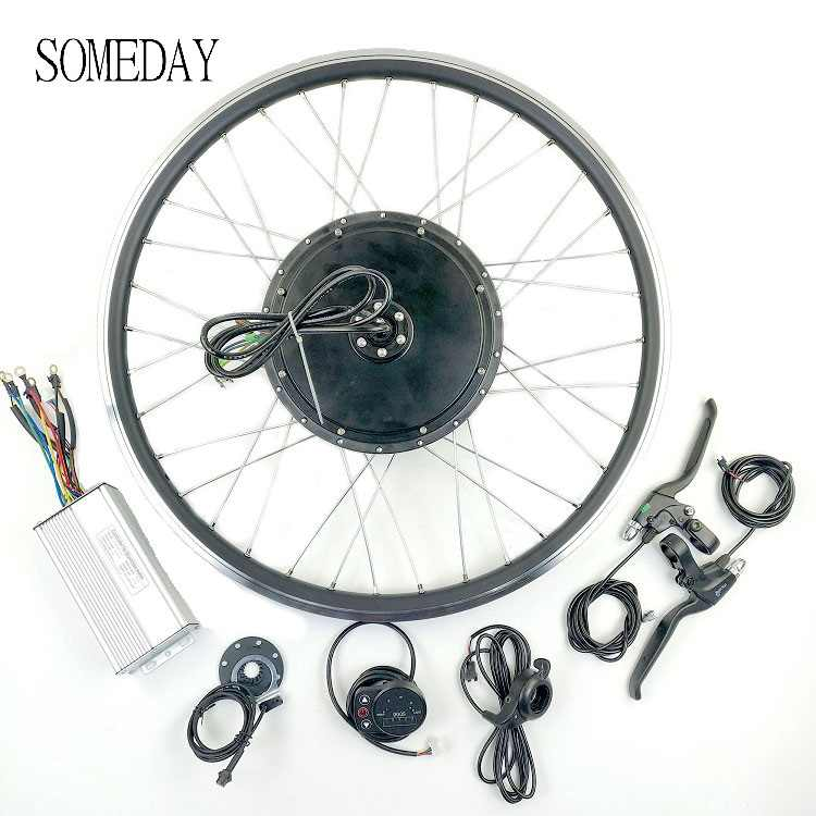 SOMEDAY 48V1500W Electric Bicycle conversion kit 20 24 26 27.5 28 29 700C Rear cassette wheel hub Motor with LED900S Display